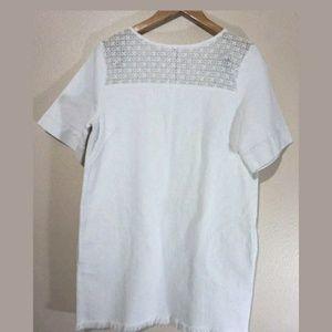 m i h Dresses - MIH white denim lace mini dress